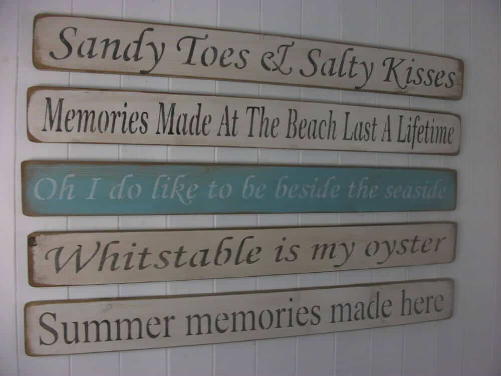 wooden beach signs decor