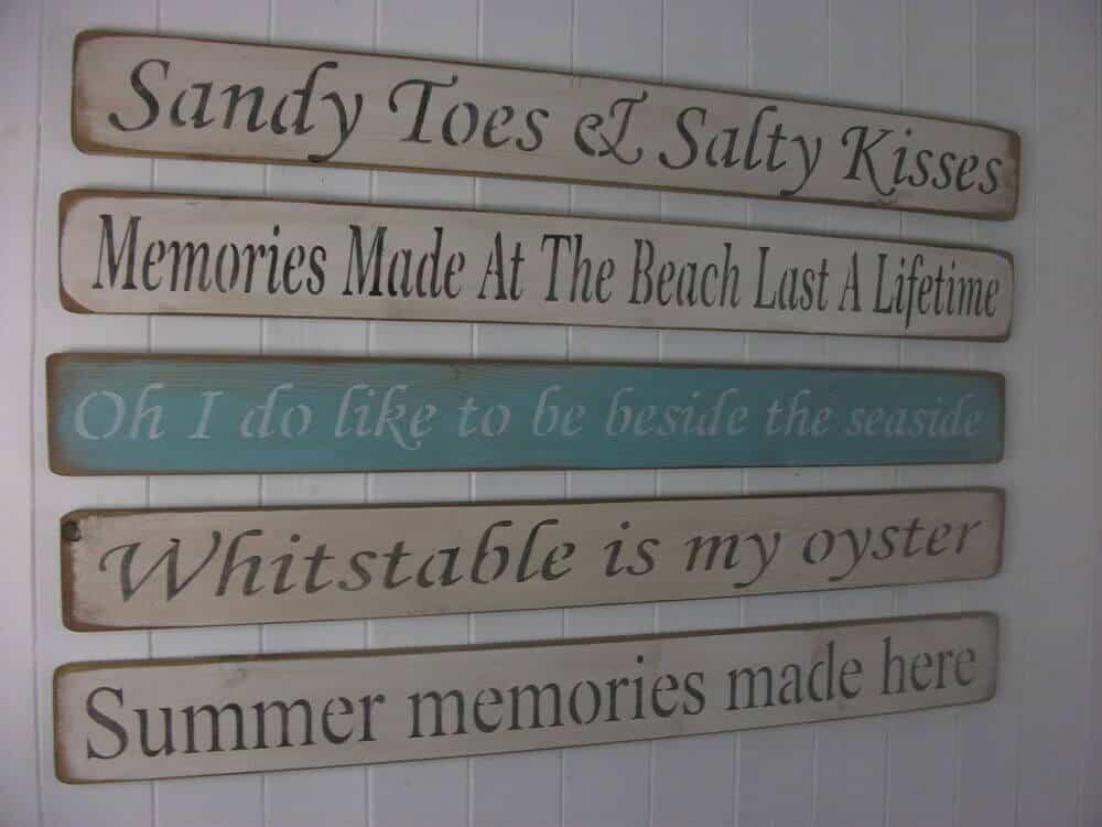 wooden beach signs decor