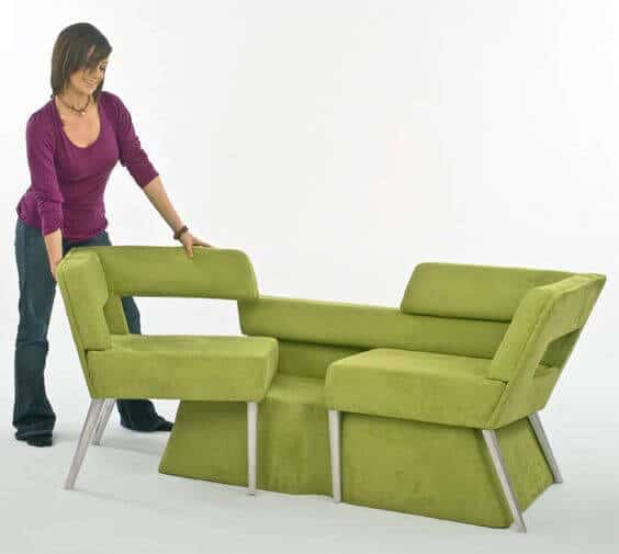 Foldaway seating for living room