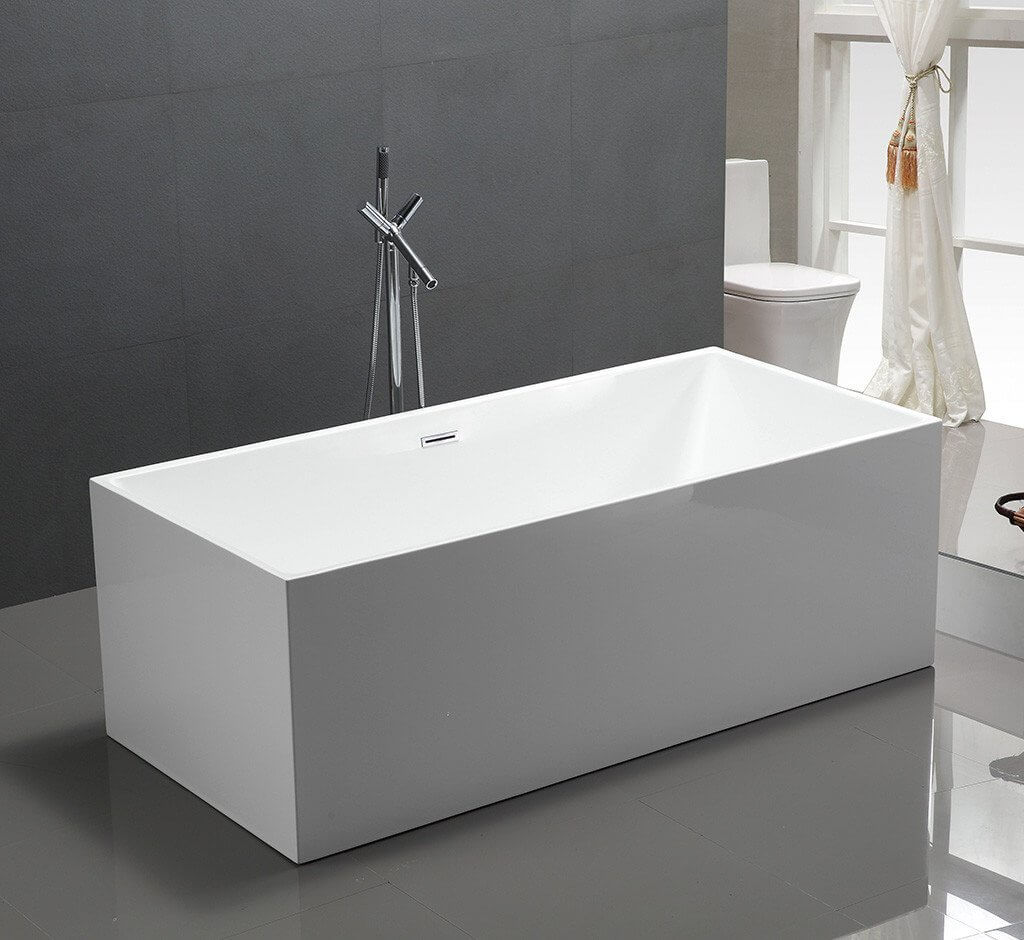 straight freestanding bath