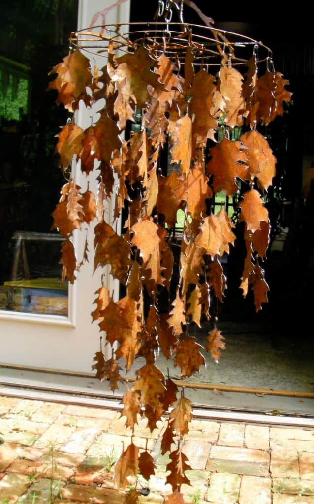 leaves wind chime