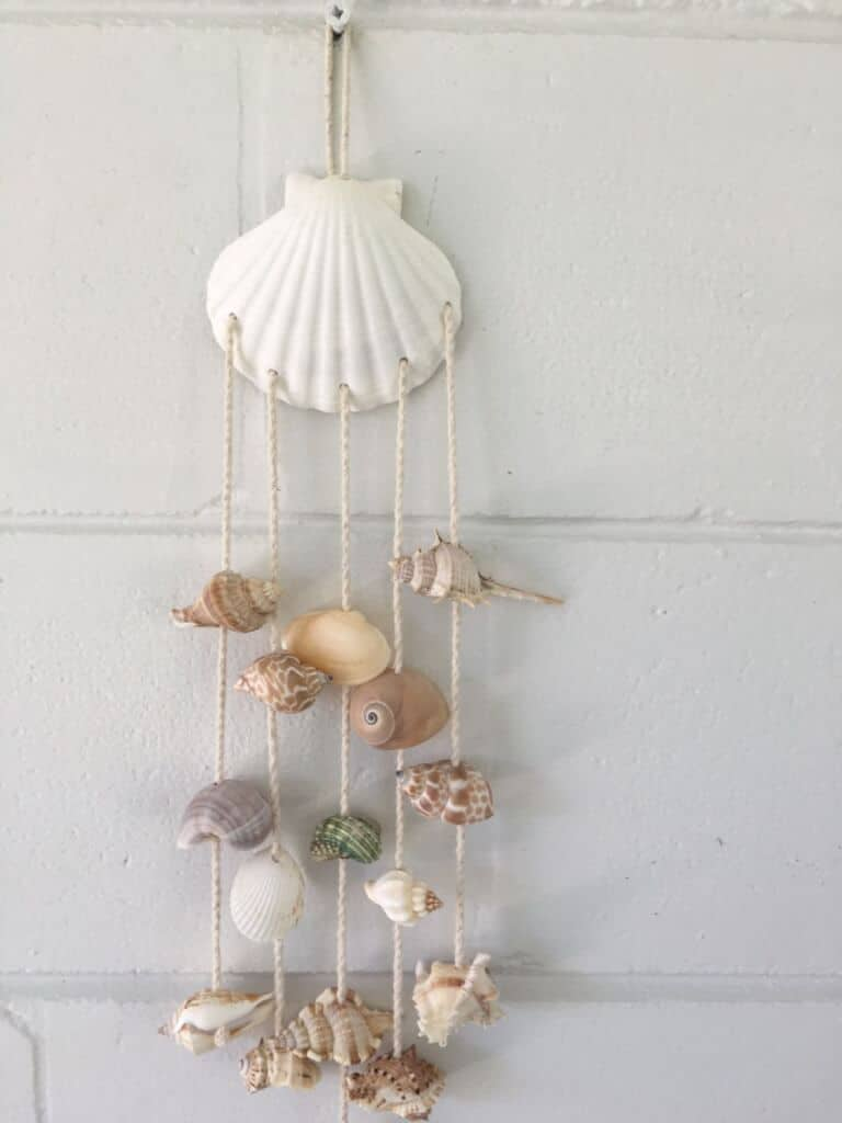 shells decor wind chime