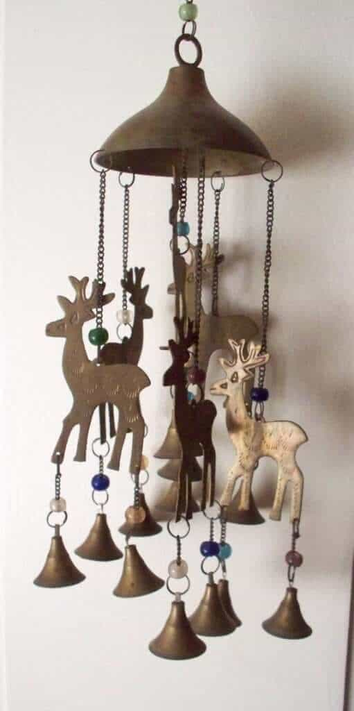 Reindeer wind chime