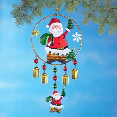 Santa bells wind chime