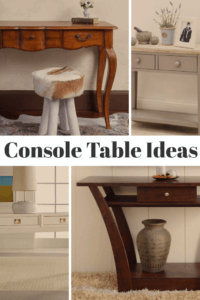 Console Tables Ideas