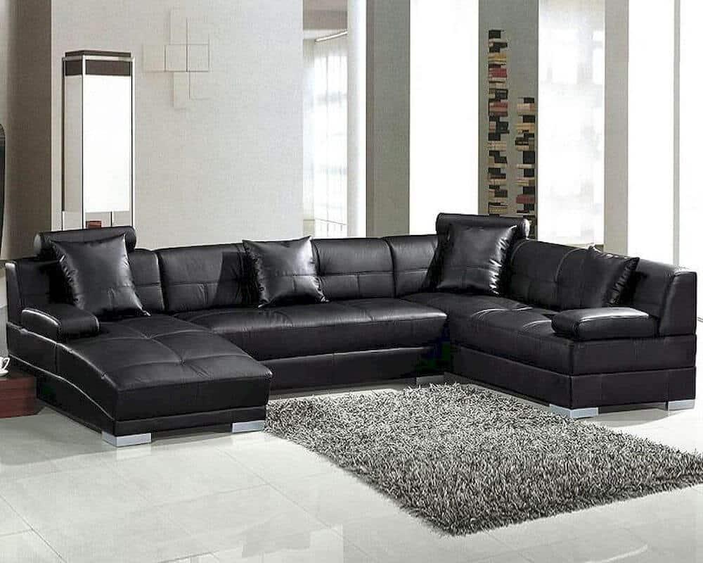 black-modern-leather-sofa