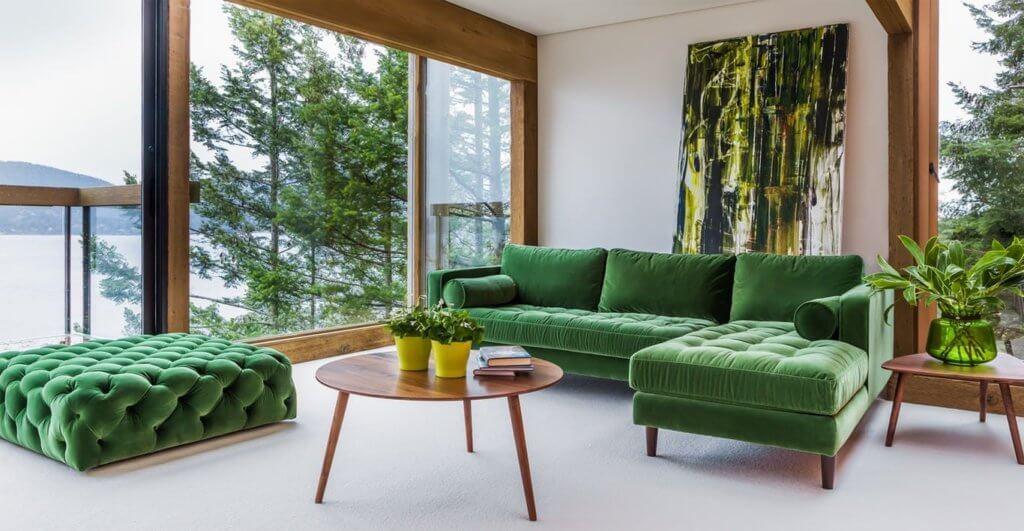 Green Velvet Furniture