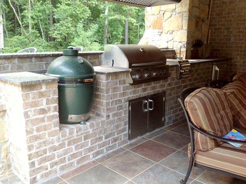 Brick Outdoor Kitchens Storage