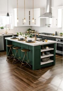 Kitchen Island Colors With White Kitchen